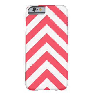Modern Red and White Arrow Chevron Barely There iPhone 6 Case