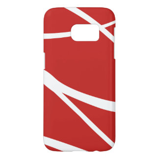 Modern Red And White Geometric Samsung Galaxy S7 Case