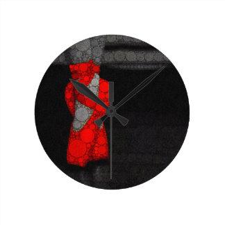 Modern Red Ballet Shoes Clock
