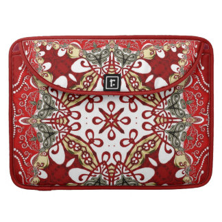 Modern Red Batik Art Rickshaw Flap Sleeve Sleeves For MacBook Pro