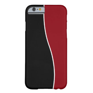 Modern Red Black And White Barely There iPhone 6 Case