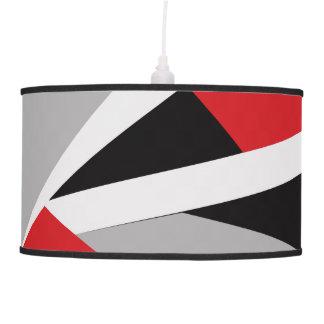 Modern red, black, white, gray pendant lamp