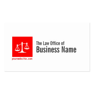 Modern Red Cube Lawyer/Attorney Business Card