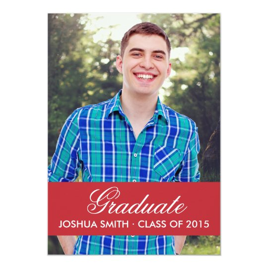 Modern Red Graduation Invitation