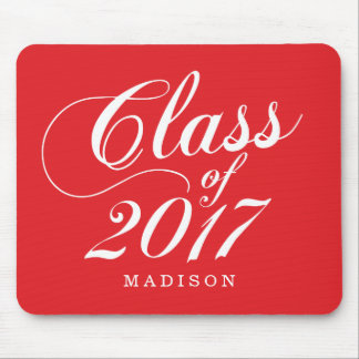 Modern Red | Graduation Mouse Pad