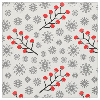 "Modern Red & Gray Cotton (56"" width) Fabric"