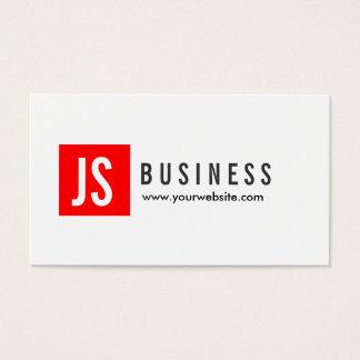 Modern Red Logo Swim Instructor Business Card