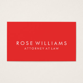 Modern Red Minimalist Professional Business Business Card