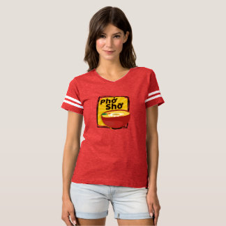 Modern Red Ramen Pho Sho T-Shirt for Foodies