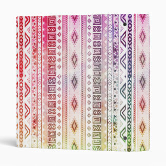 Modern Red Watercolor Aztec Andes Tribal Pattern Vinyl Binder