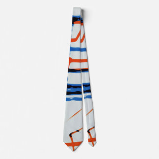 Modern red white and blue art print tie