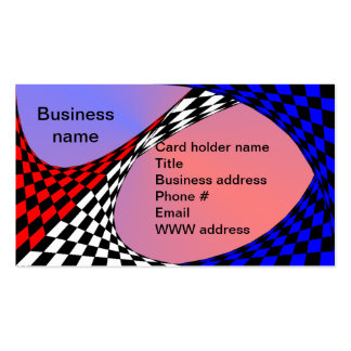 Modern Red/White/Blue Checker by Kenneth Yoncich Business Card