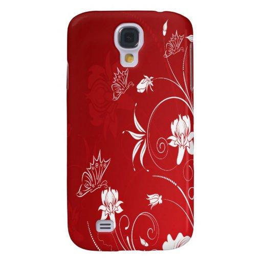 Modern Red & White Floral HTC Vivid / Raider 4G Case