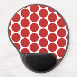 MODERN RED, WHITE POLKA DOTS GEL MOUSE PAD