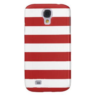 Modern Red White Stripes Pattern