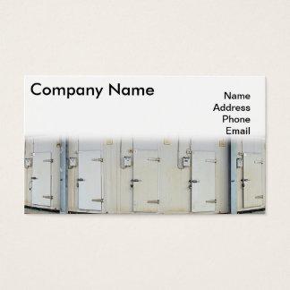 Modern Refrigeration and Freezer Storage Facility Business Card