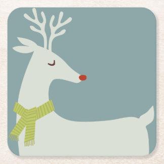 Modern Reindeer Holiday Coasters