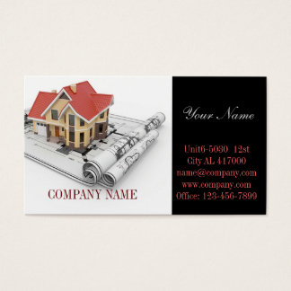 Modern Renovation Handyman Carpentry Construction Business Card