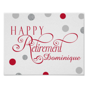 retirement party posters prints poster printing zazzle ca