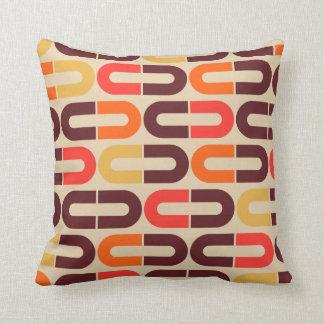Modern retro 60s 70s style pillow
