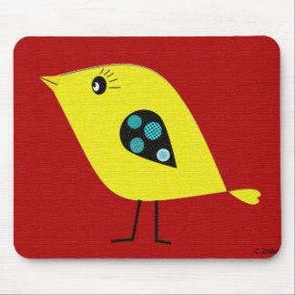 Modern Retro Bird Mouse Pad