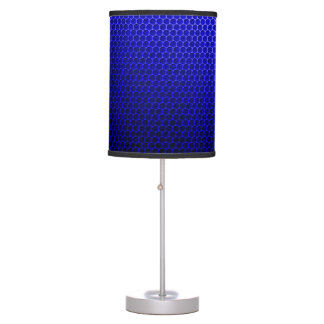 Modern Retro Blue Pattern Table Lamps