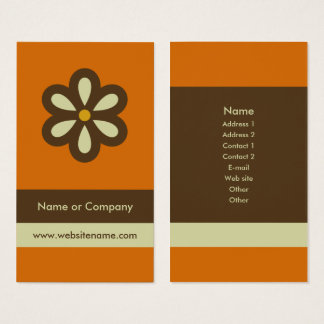 Modern Retro Business Card/Social Networking Card