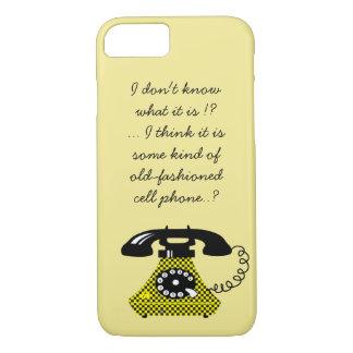 Modern Retro Funny Phone Vintage Stylish Cartoon iPhone 8/7 Case