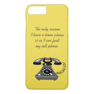 Modern Retro Funny Phone Vintage Stylish Cartoon iPhone 8 Plus/7 Plus Case
