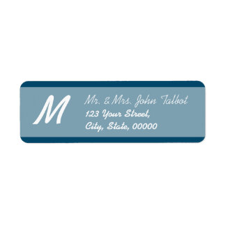 Modern Return Address Label Choose your color 3