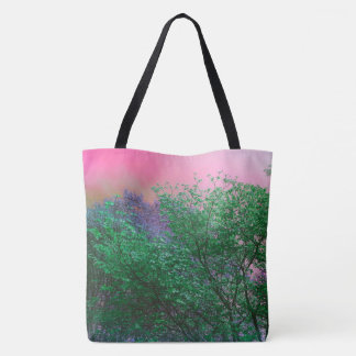 Modern Rich Pastele Through The Treetop Decorative Tote Bag