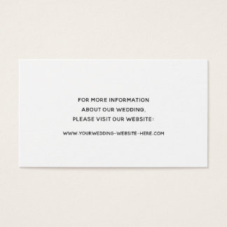 Modern Romance | Simple Elegance | Wedding Insert