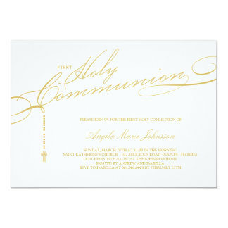 Browse the First Holy Communion Invitations Collection and personalize by color, design, or style.
