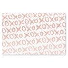 Modern rose gold blush pink love xoxo typography tissue paper