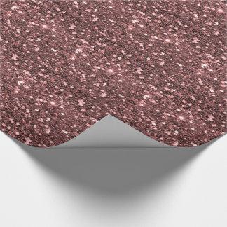 Modern Rose Gold Faux Glitter Print