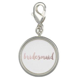 modern rose gold foil bridesmaid charm