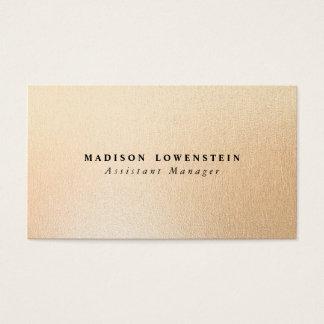 Modern Rose Gold Foil Pattern Business Card