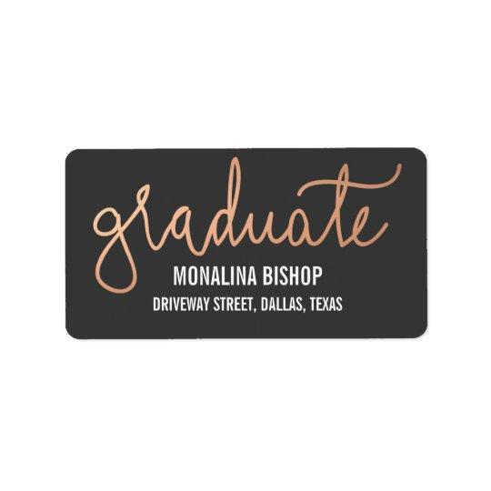 Modern Rose Gold Graduate Typography