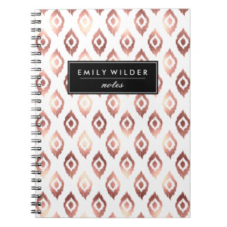 Modern Rose Gold Ikat | Notebook