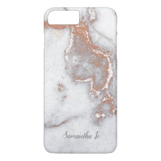 Modern Rose Gold Marble iPhone Case