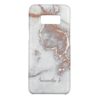 Modern Rose Gold Marble Samsung Case