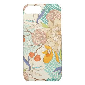 Modern Rose Peony Flower Pattern iPhone 7 Case