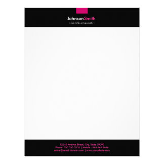 Modern Rose Pink Color Personal Stationery