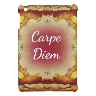 Modern Rose Yellow 'Carpe Diem' Artistic Pattern iPad Mini Cases
