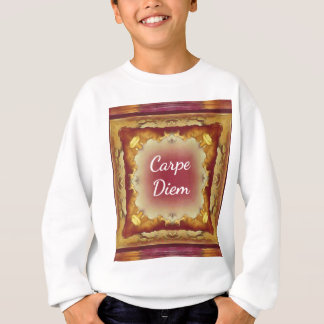 Modern Rose Yellow 'Carpe Diem' Artistic Pattern Sweatshirt