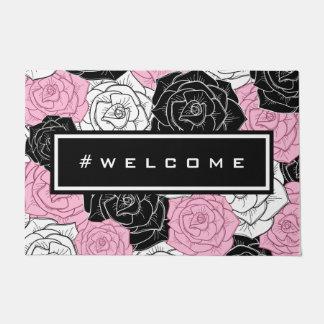 Modern roses doormat
