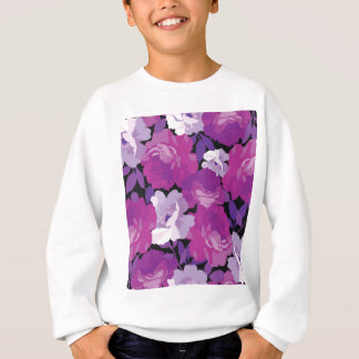 modern,roses,lavender,purple,pink,magnolia,elegant sweatshirt