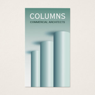 Modern Round Columns Architect Business Cards