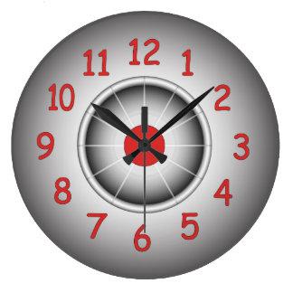 Modern round wall clock