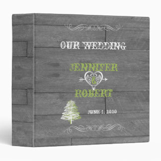 Modern Rustic Barn Wood Wedding Album 3 Ring Binders